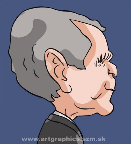 Cartoon: Bush (medium) by takacs tagged caricature,
