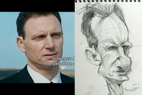 Cartoon: Dean Tony Goldwyn (medium) by Toni Malakian tagged tonimalakian,caricature,karikatur,the,mechanic