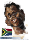 Cartoon: Siphiwe Tshabalala (small) by Toni Malakian tagged siphiwe,tshabalala,soccer,world,cup,2010,karikatur