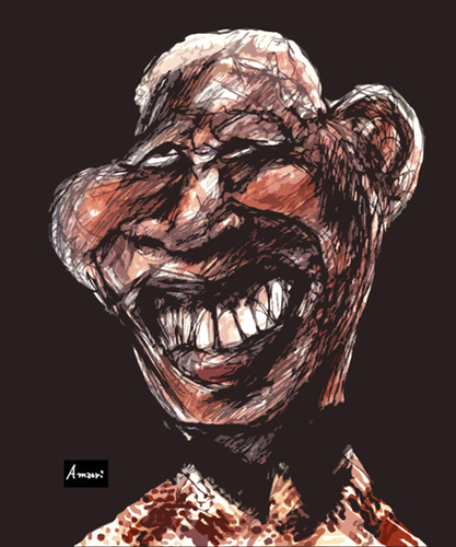 Cartoon: Mandela Experience (medium) by Amauri Alves tagged digital,experience