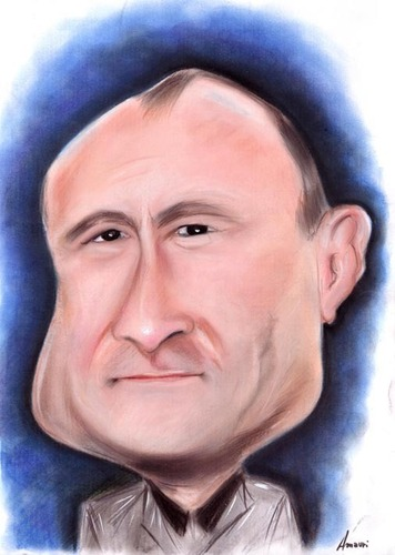 Cartoon: Phill Collins (medium) by Amauri Alves tagged hand
