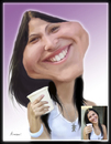 Cartoon: Caroline - order from my client (small) by Amauri Alves tagged caricature,order,digital,photoshop
