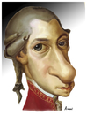 Cartoon: Mozart (small) by Amauri Alves tagged mozart