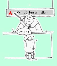 Cartoon: Schiessbefehl (medium) by amigomike tagged hartz4