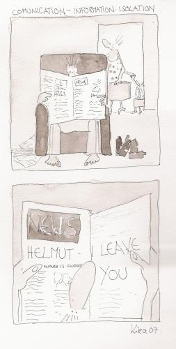 Cartoon: i leave you (medium) by kika tagged newspaper,beziehung,zeitung,trennung,