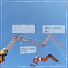 Cartoon: cooler move (small) by kika tagged baustelle,kran,bauarbeiter,bauleiter,hausbau,architektur