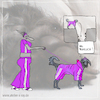 Cartoon: wie peinlich (small) by kika tagged hund,hundehalterin,mode,hundemode
