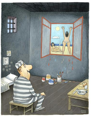 Cartoon: Cell (medium) by ciosuconstantin tagged prison
