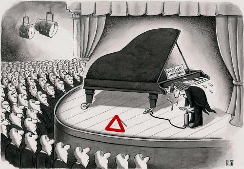 Cartoon: pianist (medium) by ciosuconstantin tagged piano,