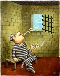 Cartoon: prison (medium) by ciosuconstantin tagged cell,
