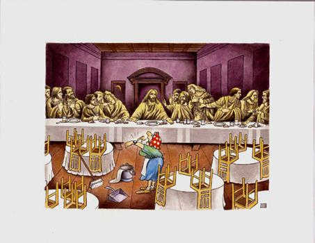 Cartoon: The last supper (medium) by ciosuconstantin tagged supeu,