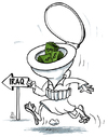 Cartoon: Toilet Brain (small) by Raed Al-Rawi tagged terrorism