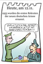 Cartoon: 12. November (small) by chronicartoons tagged bundeswehr,hitlergruß,soldat,rekrut,armee,nazi,cartoon