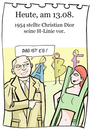 Cartoon: 13. August (small) by chronicartoons tagged dior,line