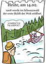 Cartoon: 14. Februar (small) by chronicartoons tagged skilift,wintersport,trendsport,cartoon