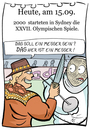 Cartoon: 15. September (small) by chronicartoons tagged olympia,sydney,crocodile,dundee,fechten,australien,cartoon