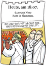 Cartoon: 18. juli (small) by chronicartoons tagged rom,nero,feuer,cartoon