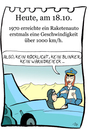 Cartoon: 18. Oktober (small) by chronicartoons tagged raketenauto,geschwindigkeit,speed,tempo,politesse,cartoon