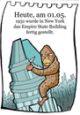 Cartoon: 1. Mai (small) by chronicartoons tagged empire,state,buiding,new,york,king,kong,hochhaus,skyscraper