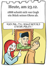 Cartoon: 23. Dezember (small) by chronicartoons tagged van,gogh,til,schweiger,keinohrhase,zweiohrküken,maler,cartoon,ohr