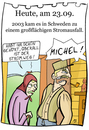 Cartoon: 23. September (small) by chronicartoons tagged stromausfall,schweden,michel,lindgren