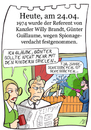 Cartoon: 24. April (small) by chronicartoons tagged kanzler,brandt,guillaume,stasi,brd,spion,cartoon