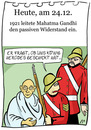 Cartoon: 24. Dezember (small) by chronicartoons tagged gandhi gewaltloser widerstand könig herodes cartoon