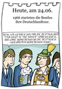 Cartoon: 24. Juni (small) by chronicartoons tagged beatles,john,ringo,paul,george,musik,band,deutschland,cartoon