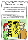 Cartoon: 24. September (small) by chronicartoons tagged brücke,heckel,kirchner,lampe,kunst,künstlergruppe,expressionismus,cartoon