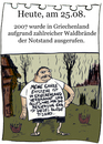 Cartoon: 25.August (small) by chronicartoons tagged waldbrand,feuer,griechenland