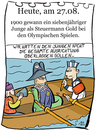 Cartoon: 27. August (small) by chronicartoons tagged olympiade,ruderer
