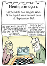 Cartoon: 29. November (small) by chronicartoons tagged schach,remis,wm,cartoon