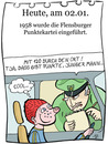Cartoon: 2. Januar (small) by chronicartoons tagged sams,flensburger,punktekartei,wunschpunkte,verkehrspolizist,cartoon