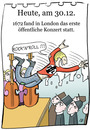 Cartoon: 30. Dezember (small) by chronicartoons tagged open,air,konzert,klassik,rocknroll,pil,london,stagediving,cartoon