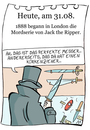 Cartoon: 31. August (small) by chronicartoons tagged jack,ripper,killer,mörder,messer,london,cartoon