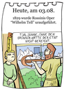 Cartoon: 3. August (small) by chronicartoons tagged tell oper rossini