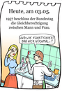 Cartoon: 3. Mai (small) by chronicartoons tagged mann,frau,gleichberechtigung,cartoon