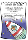 Cartoon: 3. November (small) by chronicartoons tagged laika,weltall,rakete,cartoon