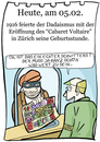 Cartoon: 5. Februar (small) by chronicartoons tagged dadaismus,schwitters,cabaret,voltaire,cartoon