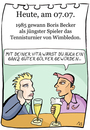 Cartoon: 7. juli (small) by chronicartoons tagged besenkammer,wimbledon,becker,tennis,tiger,woods,golf,sport,affairen,cartoon
