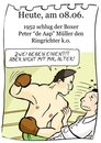 Cartoon: 8. Jun (small) by chronicartoons tagged boxen,boxkampf,aap,ringrichter,ko,cartoon