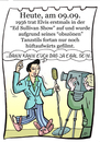 Cartoon: 9. September (small) by chronicartoons tagged elvis,presley,ed,sullivan,rocknroll,television,cartoon