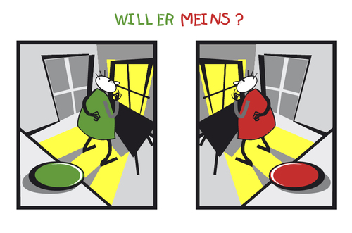 Cartoon: MEINS (medium) by zenundsenf tagged mein,dein,zenf,zensenf,zenundsenf