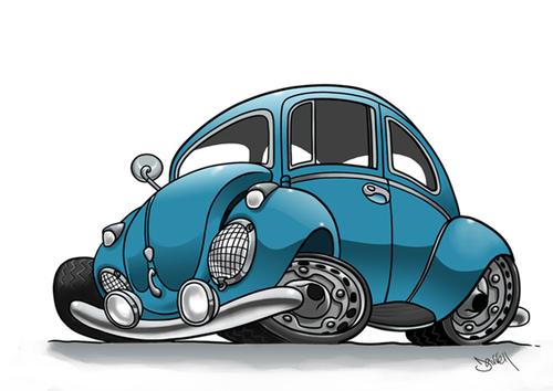 Volkswagen beetle - download free vector art