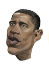 Cartoon: Barack Obama (small) by Darrell tagged barack obama