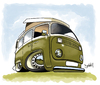 Cartoon: VDub Van (small) by Darrell tagged volkswagen,van,cartoon