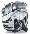 Cartoon: Volkswagen T5 (small) by Darrell tagged volkswagen,t5,camper,van,dazzlarock,cartoon