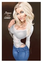 Cartoon: Zienna Eve Sonne (small) by Darrell tagged zienna,eve,sonne,darrell,dazzlarock