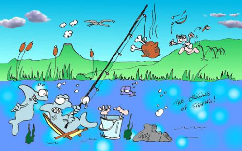 Cartoon Fishing Pictures. Cartoon: Origins Of Fishing