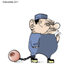 Cartoon: my prison (small) by ELCHICOTRISTE tagged berlusconi,italy